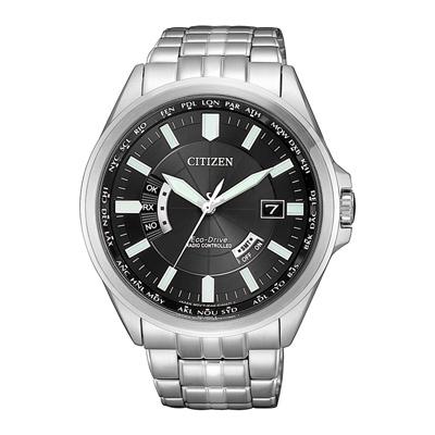 CITIZEN光動能時光續航電波計時腕錶-銀(CB0180-88E)-42mm