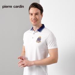 Pierre Cardin皮爾卡登 男裝  素色網眼短袖POLO衫-白色(5187267-90)