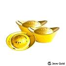 Jove Gold 漾金飾 伍台錢加大版黃金元寶x3-福(15台錢)
