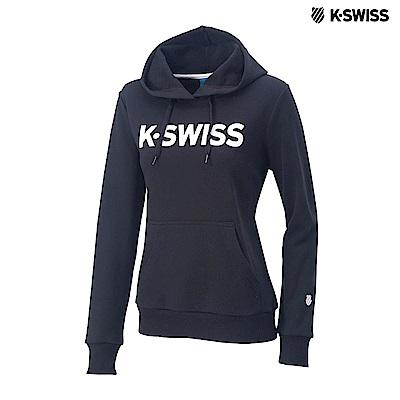 K-SWISS K-SWISS Hoodie連帽上衣-女-黑