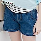 betty's貝蒂思 腰間彈性抽繩口袋設計牛仔短褲(深藍)