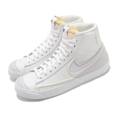 Nike 休閒鞋 W Blazer Mid 77 女鞋 Infinite 皮革 高筒 流行 白 DC1746101