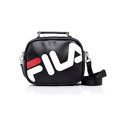 FILA 皮革小型斜肩包-黑 BMS-5402-BK