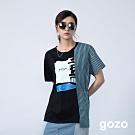 gozo 夏日戲水條紋拼接造型上衣(二色)