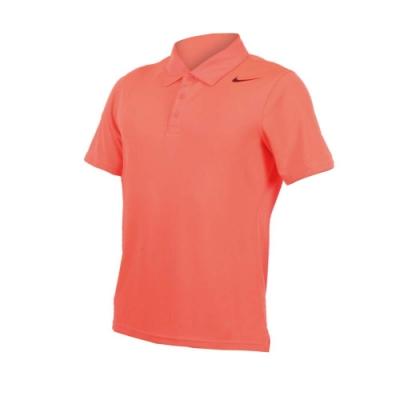 NIKE 男翻領短袖POLO衫-立領 網球 針織衫 螢光粉黑