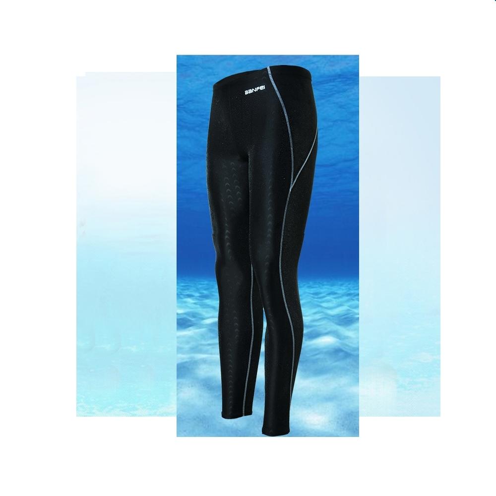 Biki比基尼妮泳衣    鯊魚男泳褲長褲有加大浮潛褲(藍M-4XL)