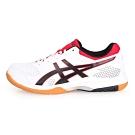 ASICS GEL-ROCKET 8 女排羽球鞋-排球 訓練 羽球  白紅黑