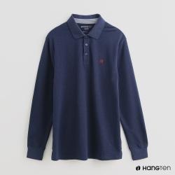 Hang Ten - 男裝 - 經典素色POLO衫 - 藍