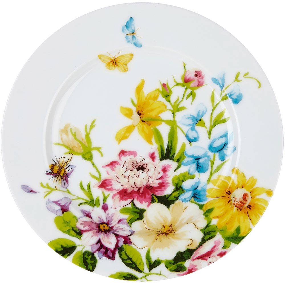CreativeTops Katie淺餐盤(花園白19cm)
