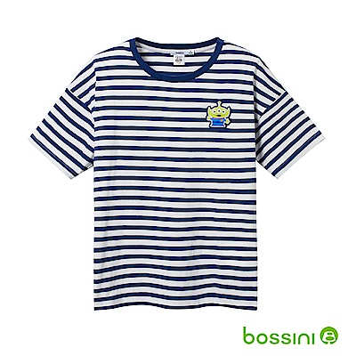 bossini女裝-玩具總動員條紋T恤-三眼怪淺綠松