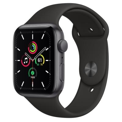 Apple Watch SE (GPS) 44mm 太空灰鋁金屬錶殼+黑色錶帶(MYDT2TA/A)