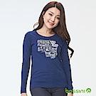 bossini女裝-印花長袖T恤03海藍