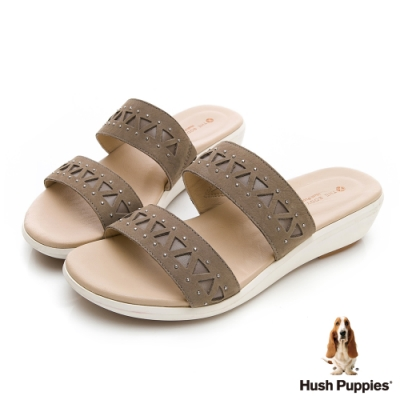 Hush Puppies LYRICALE 機能涼拖鞋-橄欖綠