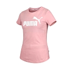 PUMA 女 基本系列Amplified短袖T恤 玫紅白