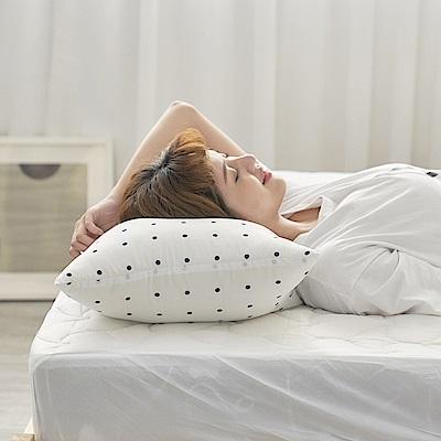 BUHO 可調式舒柔透氣水洗枕-愛心圓點(2入)