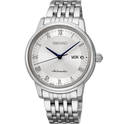 SEIKO 精工Presage 簡約藍指針機械錶腕錶-女(SRP887J1)