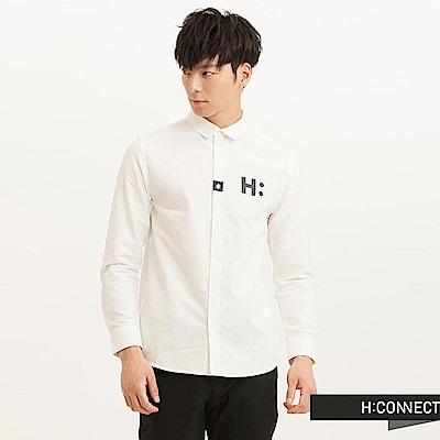 H:CONNECT 韓國品牌 男裝-CONNECT質感純色襯衫-白(快)