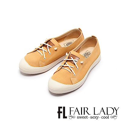 Fair Lady Soft Power軟實力 真皮彈力帶休閒鞋 布丁