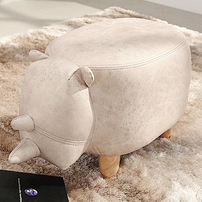 邏爵LOGIS 迷你牛多用動物椅凳 實木四腳椅 可愛造形椅 穿鞋椅 矮凳