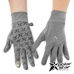 PolarStar 抗UV排汗短手套『灰色』P19515 可觸控