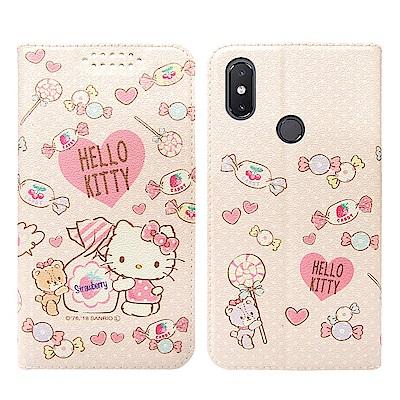Hello Kitty貓 小米8 粉嫩系列彩繪磁力皮套(軟糖)