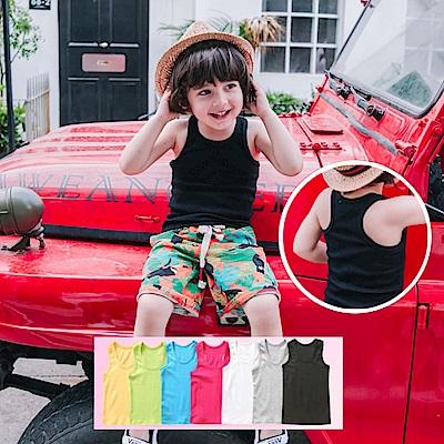 小衣衫童裝    小中大男女童糖果色工字背心1070520