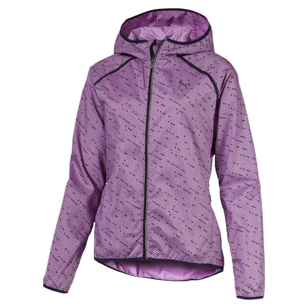 PUMA-女性慢跑系列Lastlap印花風衣外套-淺淡紫-亞規