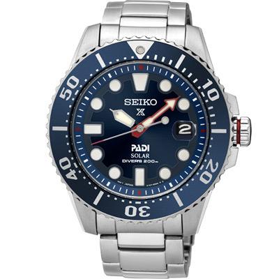 SEIKO Prospex PADI聯名 太陽能潛水錶(SNE435J)藍