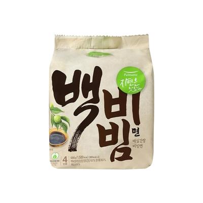 【韓味不二】pulmuone 乾拌麵(白) (111公克*4入) (白拌麵-梅子醬油口味)