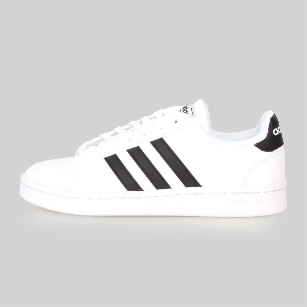 ADIDAS 女 休閒運動鞋 GRAND COURT 白黑