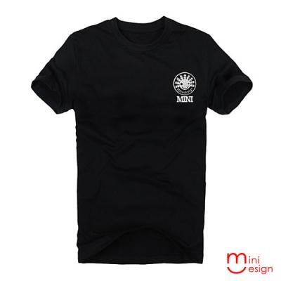 (男款)minidesign標誌徽章潮流設計短T 三色-Minidesign