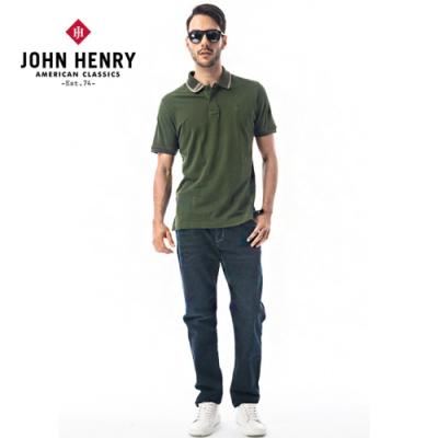 【JOHN HENRY】簡約領圍設計短袖POLO衫-二色選