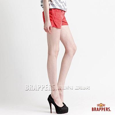 BRAPPERS 女款 Boy Friend Jeans系列-女用彈性條絨短褲-橘紅