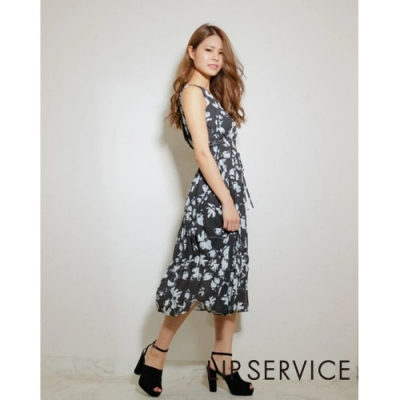 LIP SERVICE 花卉無袖長洋裝