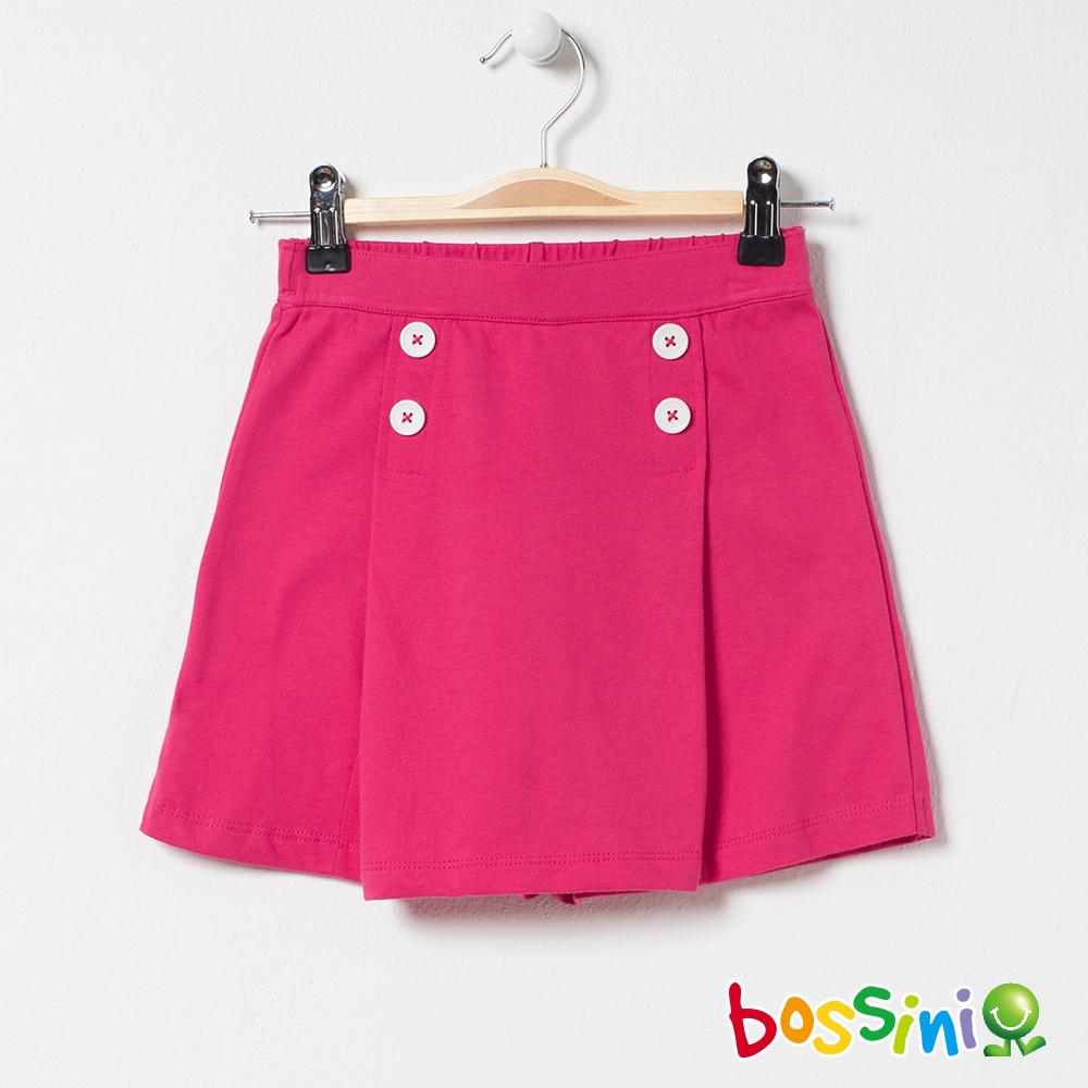 bossini女童-素色褲裙桃紅