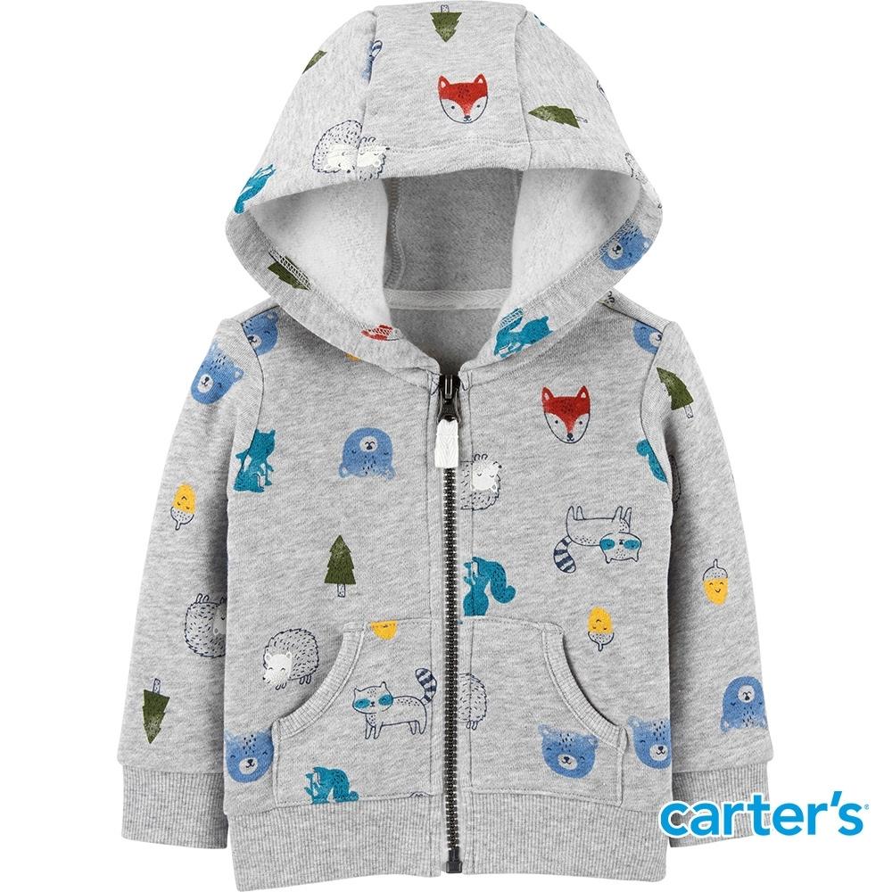【Carter's】森林小動物長袖外套 (12M-24M) (台灣總代理)