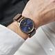 CLUSE Aravis 男款系列腕錶(玫瑰金框/深海藍錶面/咖啡色皮革錶帶) 40mm product thumbnail 1