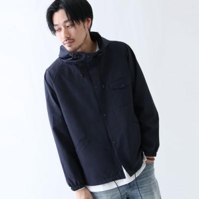 登山連帽外套防風夾克外套3色-ZIP日本男裝