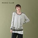 【MOSS CLUB】柔軟雙層設計-針織上衣(灰色)