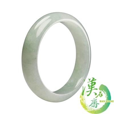 【漢石齋】天然A貨 冰糯種 翡翠手鐲(手圍18.4/版寬15mm)