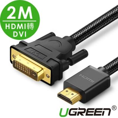 綠聯 HDMI轉DVI雙向互轉線 BRAID版 2M
