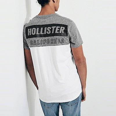 HCO Hollister 海鷗 經典印刷文字短袖T恤-灰白拼色