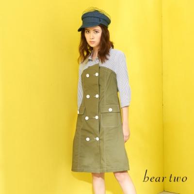 beartwo-假兩件洋裝-綠