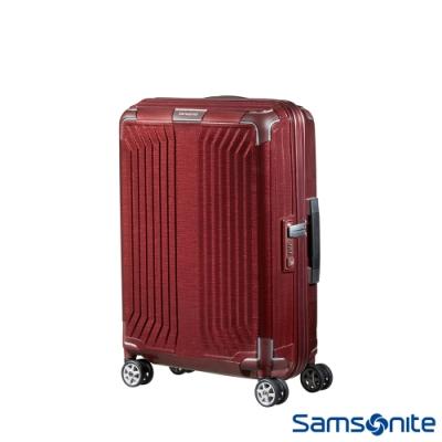 【9/1~10/1 10:00買就送1000超贈點】Samsonite新秀麗 20吋Lite-Box耐衝擊Curv垂直線條登機箱 深紅