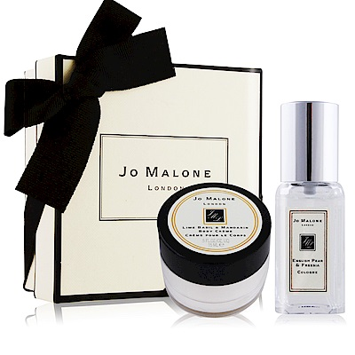 Jo Malone 經典潤膚香氛禮盒[英國梨與小蒼蘭香水9ml+青檸羅勒潤膚霜15ml]