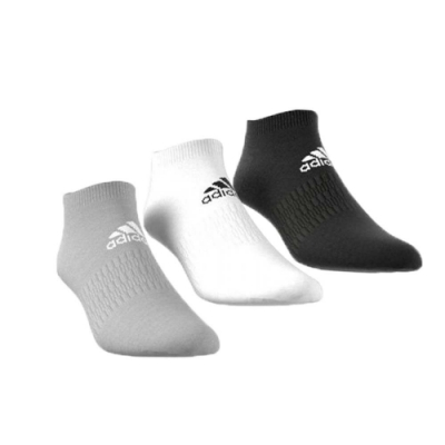 ADIDAS 男女 運動踝襪三雙入 黑灰白