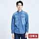 EDWIN 基本款 長袖牛仔襯衫-男-拔洗藍 product thumbnail 1