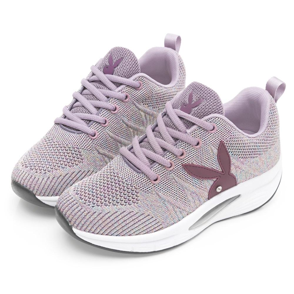 PLAYBOY 獨家飛織 足弓氣墊休閒鞋-紫-Y6737AA