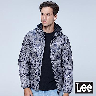 Lee 連帽羽絨外套90/10/UR-鐵灰色