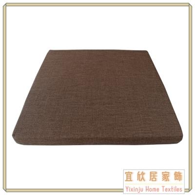 【宜欣居傢飾】亞麻紅褐-仿麻精緻實木椅座墊 6入 55*55*5cm 台灣製